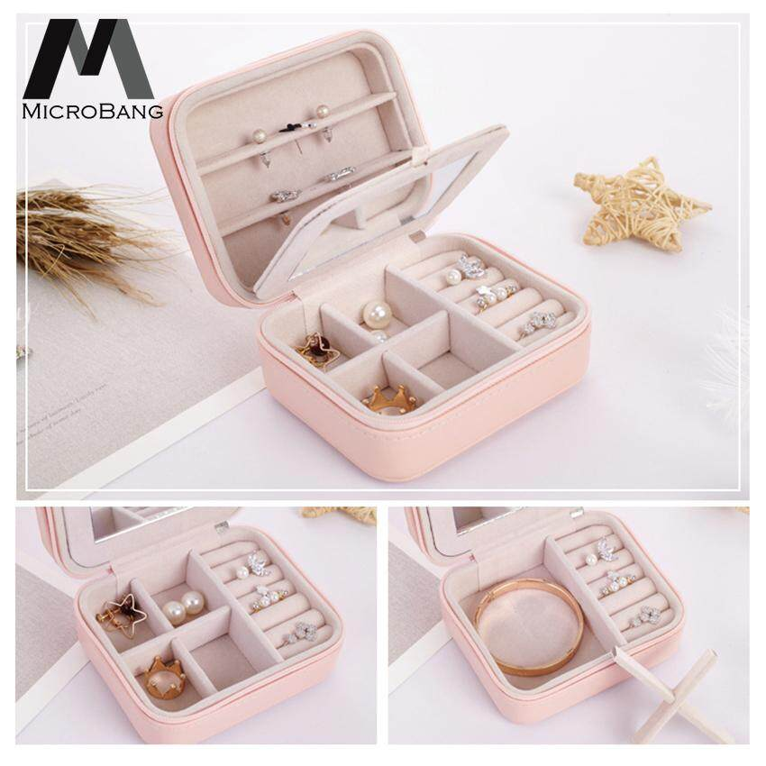 8dfb979c1 MicroBang Jewelry Box with Mirror,Travel Portable Jewelry Storage Case for  Rings and Earrings