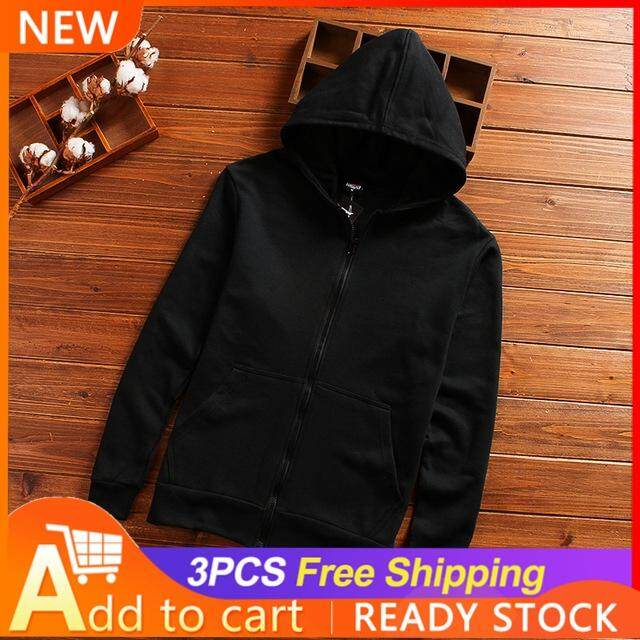 36146641ea3a TF New Fashion Men s Coat Lightweight Jackets Hooded Casual Jacket(Black)