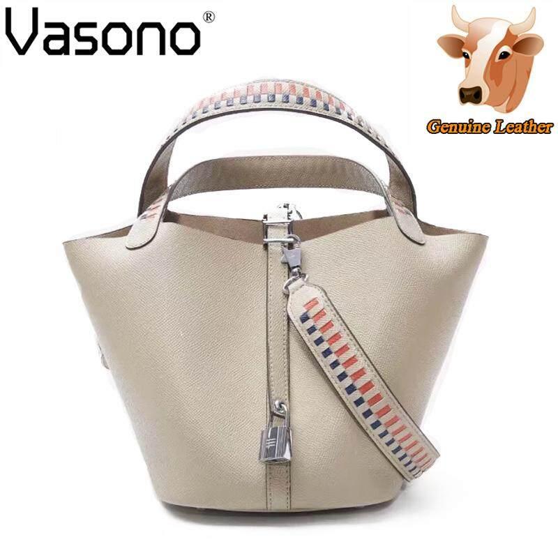 Vasono High Quality Italian Imported 100% Genuine Cow Leather Women Top Handle Bag Woman Sling Shoulder Bag Handbag