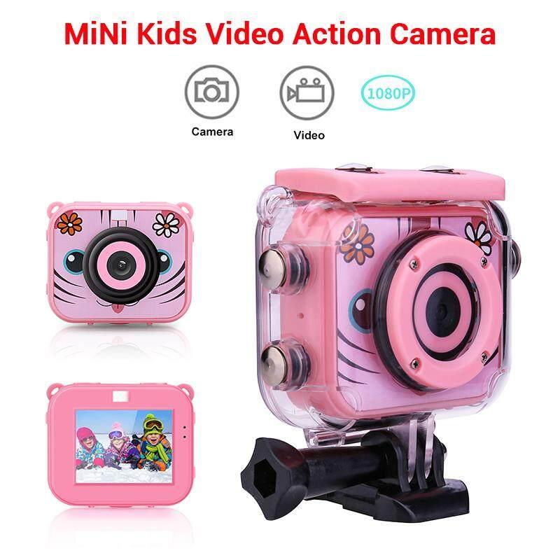 เด็กกล้องถ่ายภาพเคลื่อนไหวกันน้ำวิดีโอดิจิตอลเด็ก Cam 1080 P Hd Camcord By Jiehaosheng Estore.