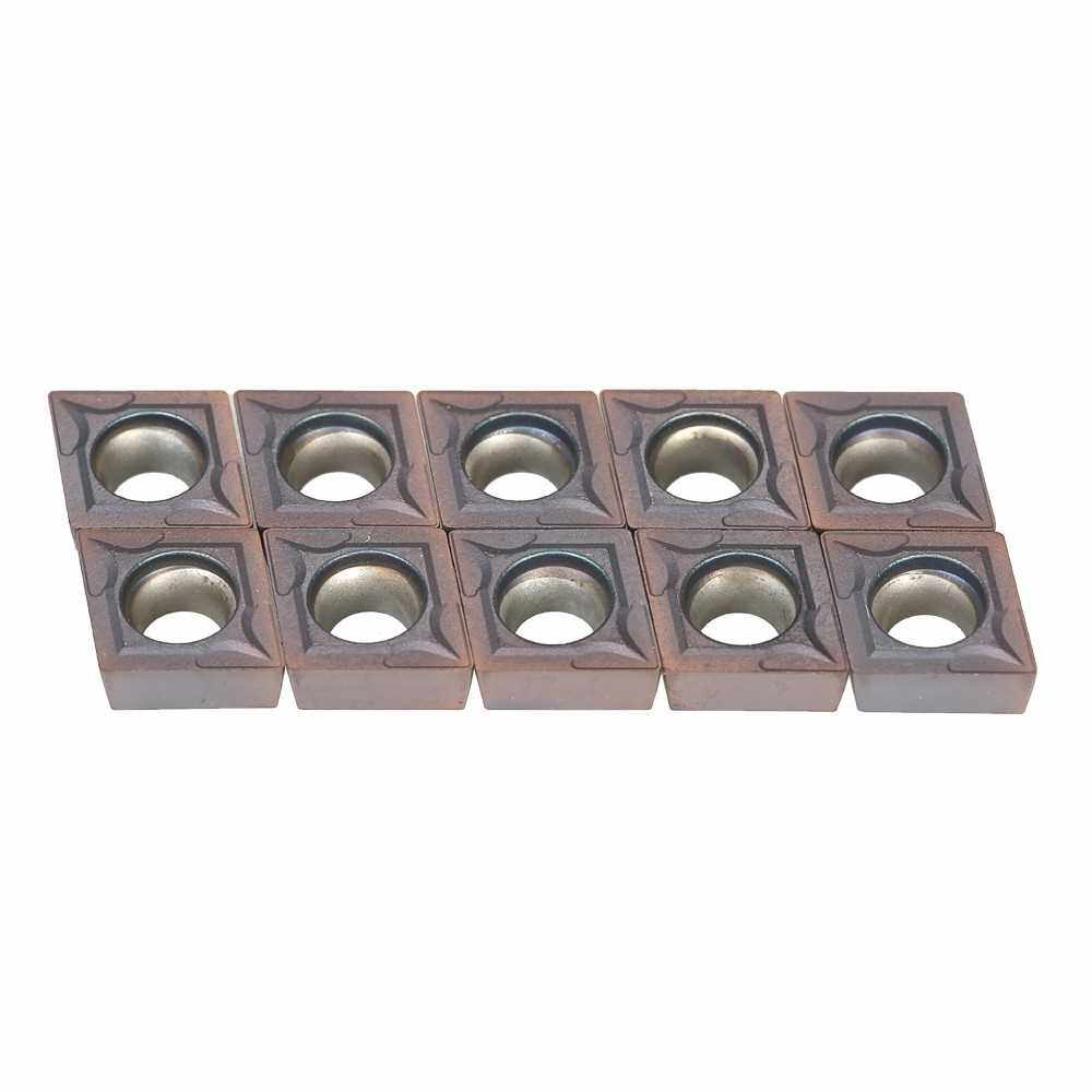 10pcs CCMT09T304 VP15TF Carbide Inserts Insert with Box For Lathe Turning Tool