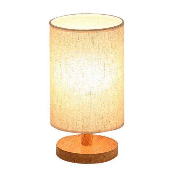 Đèn Bàn Cạnh Giường Ngủ Đèn Bàn LED Vải Che Nắng Đèn Ngủ Phòng Ngủ Gia Đình, Với Trang Trí Xi Lanh Dành Cho Phòng Trẻ Em Văn Phòng