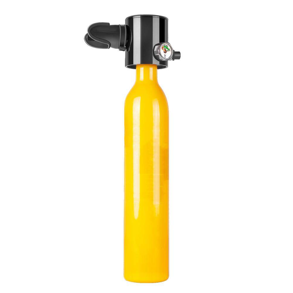 Portable Scuba Mini Oxygen Cylinder Diving Teaching Underwater Respirators Swimming Equipment Breathing Oxygen Tanks Yellow Oxygen Bottle