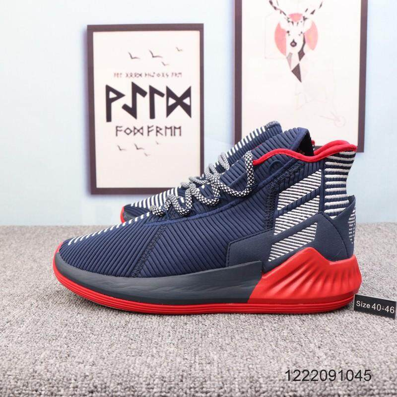 681e79fdebb Original Men shoes ADIDAS D ROSE 9 wear-resistant basketball shoes blue 40- 46