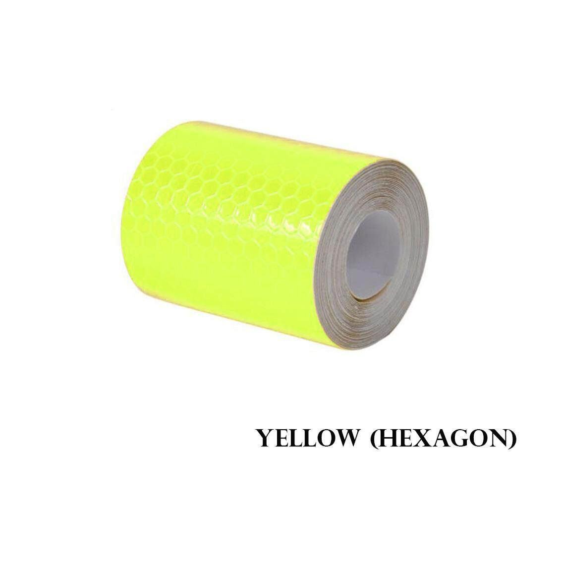 300cm X 5cm Reflective Self-adhesive Safety Warning Tape Roll Film Sticker 6 Colors
