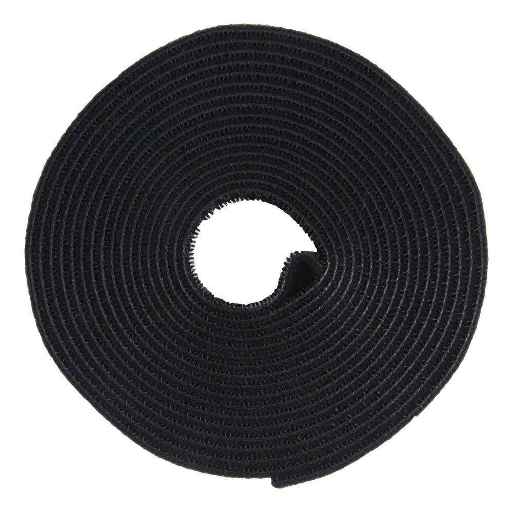 Utility Nylon Double-sided Black Hook & Loop Fastening Tape Strip Cable Tie Roll