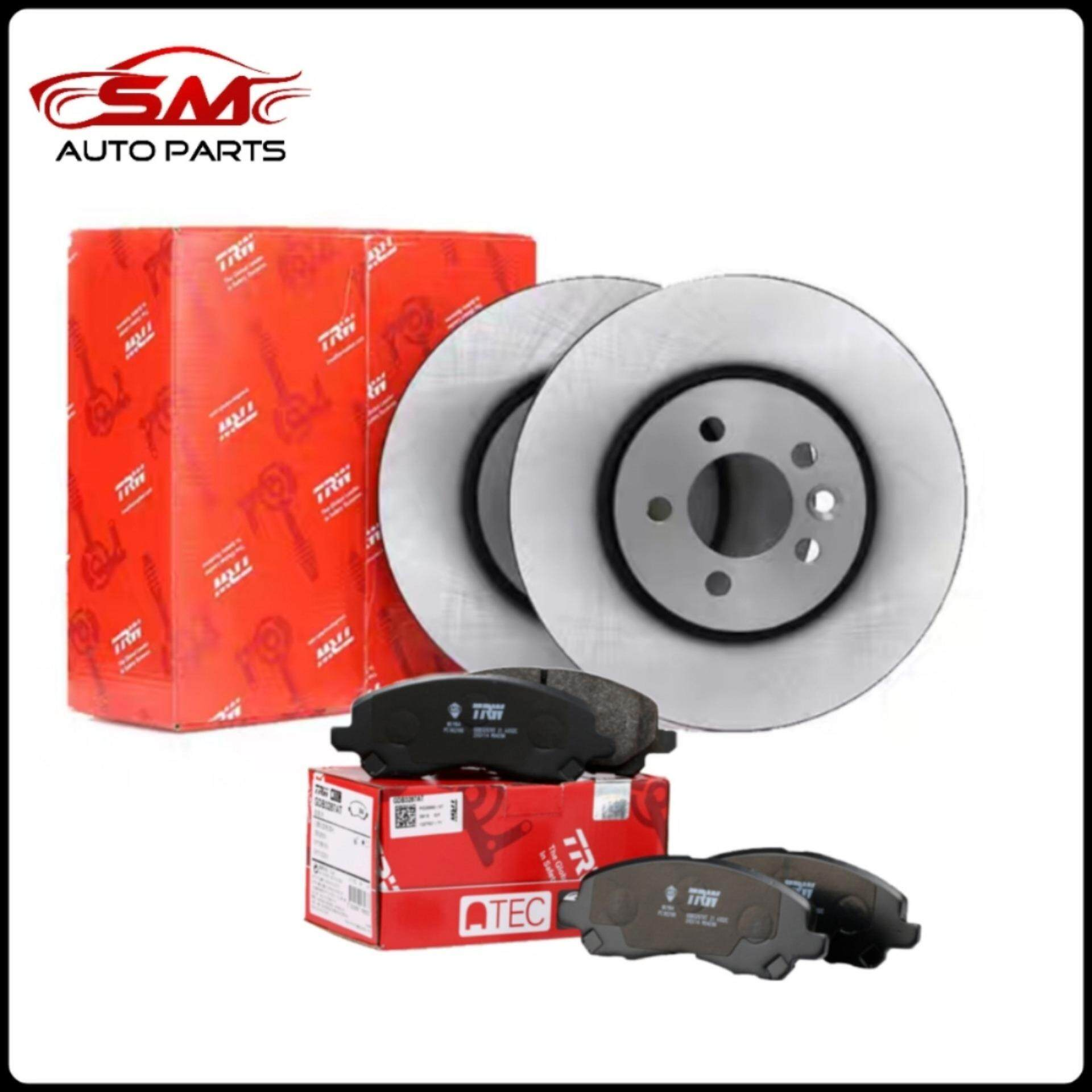 Brake Pads And Rotors Prices >> Trw Perodua Myvi 2005 2010 Front Disc Rotor With Brake Pad Df4696 Gdb7690