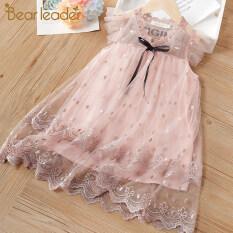 Bear Leader Đầm ren họa tiết dễ thương cho bé gái từ 3-7 tuổi – intl