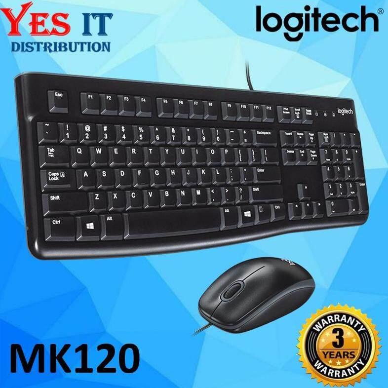 Logitech Classic Desktop MK120 Wired Keyboard And Mouse (Original Logitech Malaysia) Malaysia