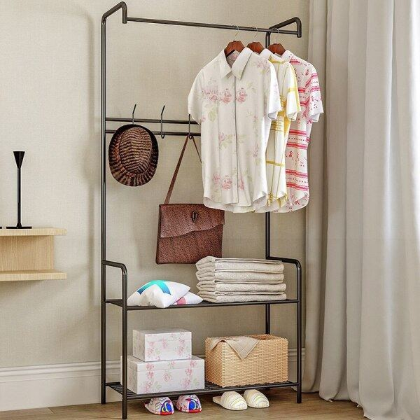 Clothes Hanger Coat Rack Floor Hanger Storage Wardrobe Clothing Drying Racks Coat rack floor bedroom hanger