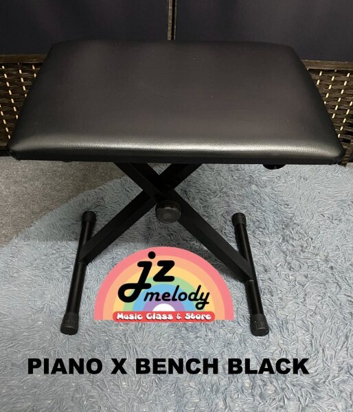 Piano x bench foldable adjustable (white / black) Malaysia