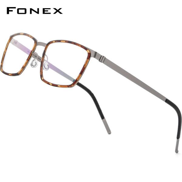 Giá bán Kính Hợp Kim FONEX Acetate Cho Nam Vuông Cận Thị Quang Học Theo Toa Kính Mắt Đầy Đủ Khung 2020 Mới Nam Phong Cách Hàn Quốc Kính Mắt Sinh Viên 98629
