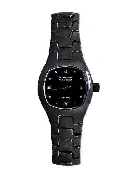Harvard Polo Ladies Sapphire Glass Black Dial Ceramic Case & Band All Black Dress Watch 0005LC-SS-4 Malaysia