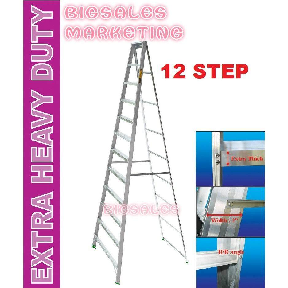 12 Steps BIGSALES Aluminium Single Sided Ladder / Tangga 12 Steps