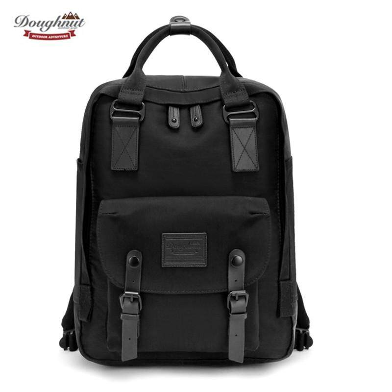 Doughnut Macaroon Classic Waterproof Nylon 14-Inch Laptop Backpack Casual Travel Backpack Fashion School Bag for Teenagers