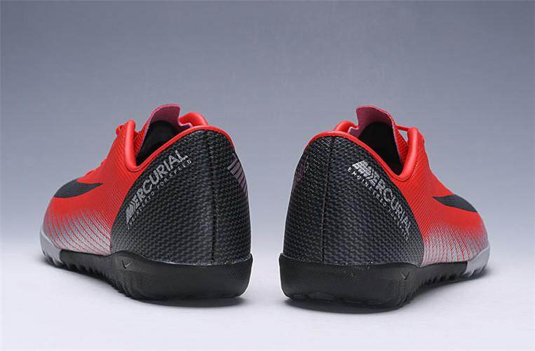 buy popular 34d91 3d568 Nike Original MENS Football Shoes Red Black Discounted Mercurial Vapor XII  Academy CR7 TF
