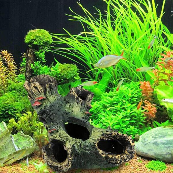 Trang Trí Hồ Cá Nhựa Cảnh Núi Cá Chơi Nhà Trên Cây Lỗ Đồ Trang Trí Hang Động Để Trang Trí Đồ Trang Trí Bể Cá Hồ Cá