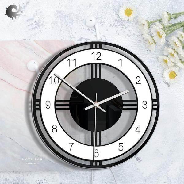 Nơi bán (1 cái), đồng hồ treo tường sáng tạo tròn màu đen và trắng, trang trí nhà, đồng hồ treo tường trang trí phòng khách, đồng hồ retro acrylic trong suốt, chất liệu acrylic cao cấp (28 * 28CM)