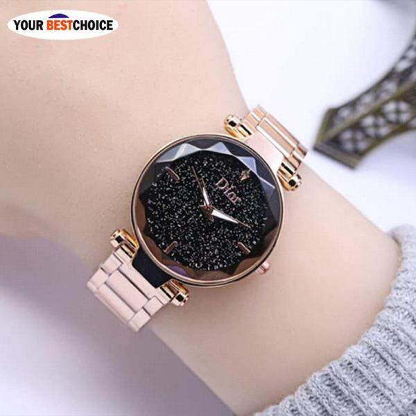 YBC 1 Pcs Women Starry Sky Luxury Watch Masonry Steel Band Quartz Wrist Watches Malaysia