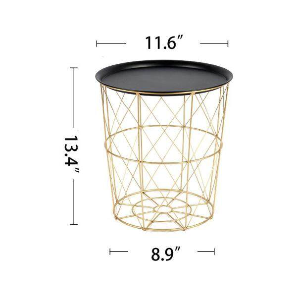 Wire Round Iron Metal Stool Side Table/Coffee Table/Sofa Table