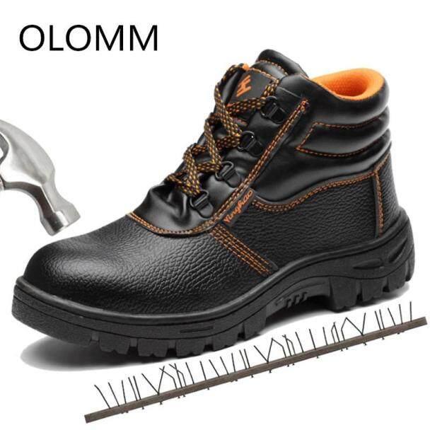 Thép Toe Giày Người Đàn Ông An Toàn Làm Việc Khởi Động Mùa Thu Mùa Đông Cao Phong Cách Người Đàn Ông Làm Việc An Toàn Giày Chống Xuyên Thủng Bảo Vệ Giày Dép giá rẻ