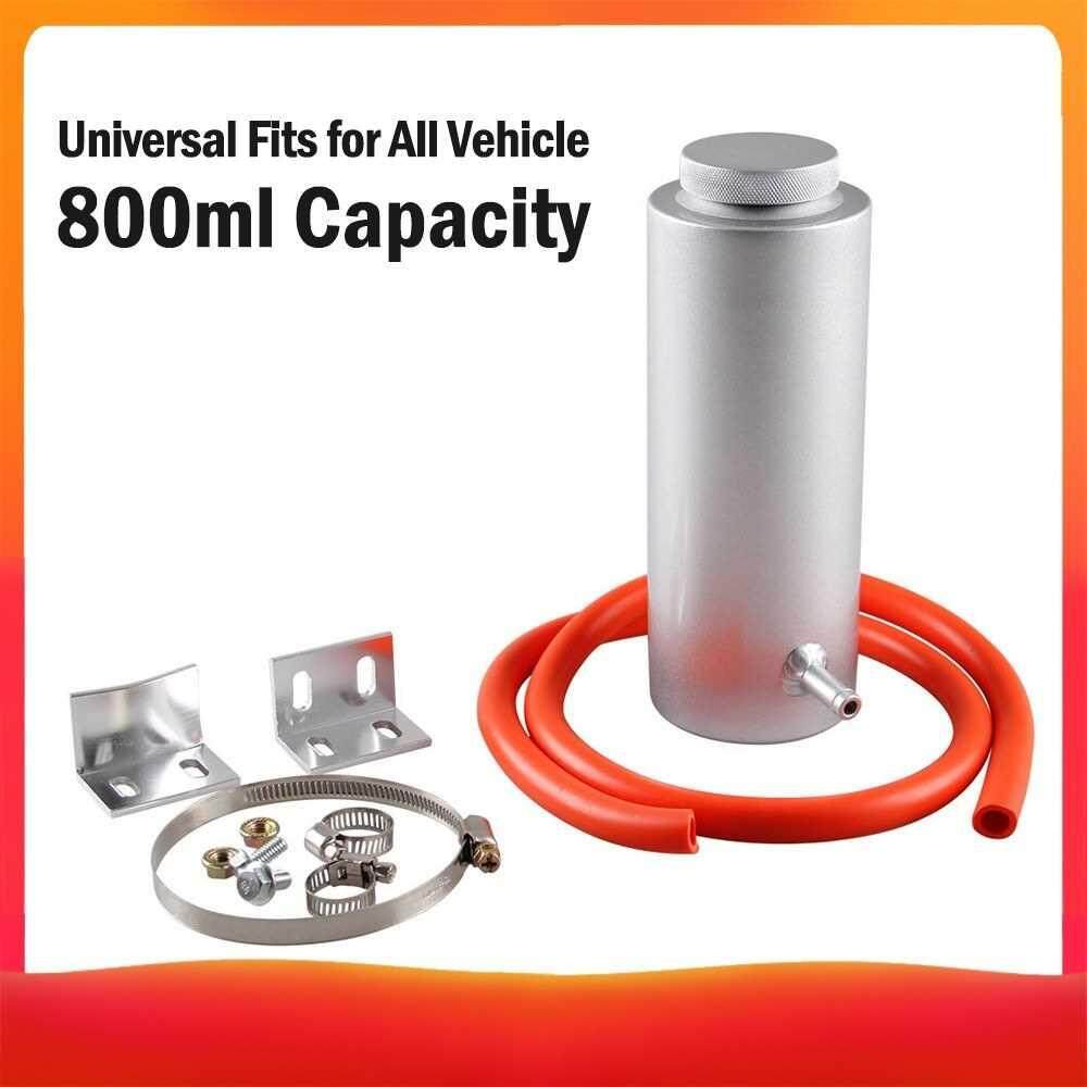 800ml Radiator Tank Universal Coolant Expansion Tank Cooling Catch Bottle Car Overflow Reservoir Styling Cooler (Silver)