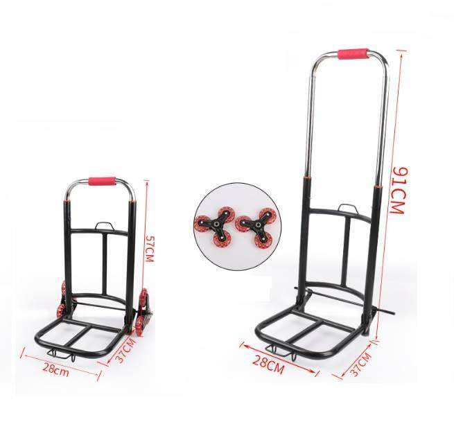 Heavy Duty 6 Wheels Portable Foldable Extendable Climb Stairs Hand Truck Trolley