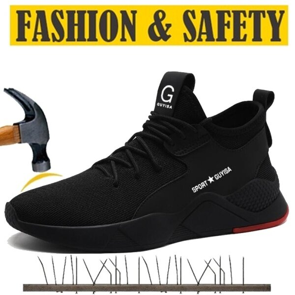 Men and Women Steel Toe Cap Midsole Low Cut Safety Boots Safety Shoe