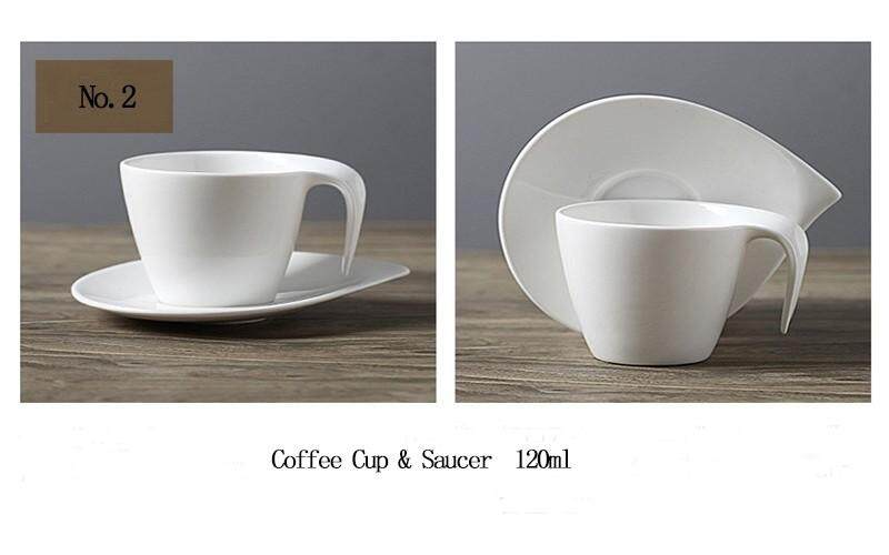 0e9084d2e7c Minimalist Life Coffee Cup Porcelain Cup & Saucers Pure White Afternoon  Ceramic Tea Cups With Trays