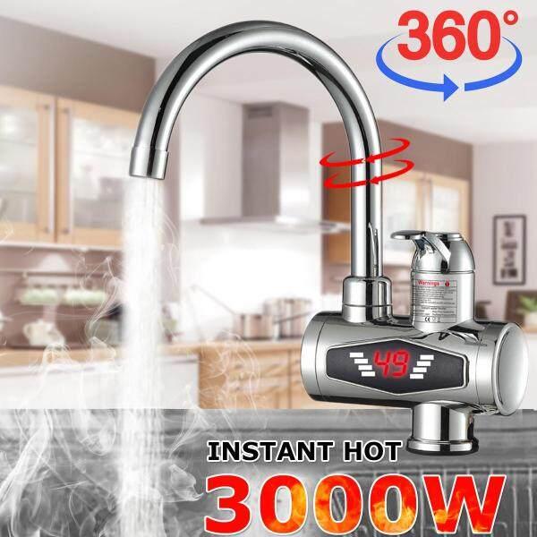 Bảng giá 【Hot/Lạnh Kép Use】 3000W IPX4 Hiển Thị Nhiệt Độ Ngay Lập Tức Nóng Vòi Nước Vòi Điện Máy Nước Nóng 360 Độ Quay Điện máy Pico