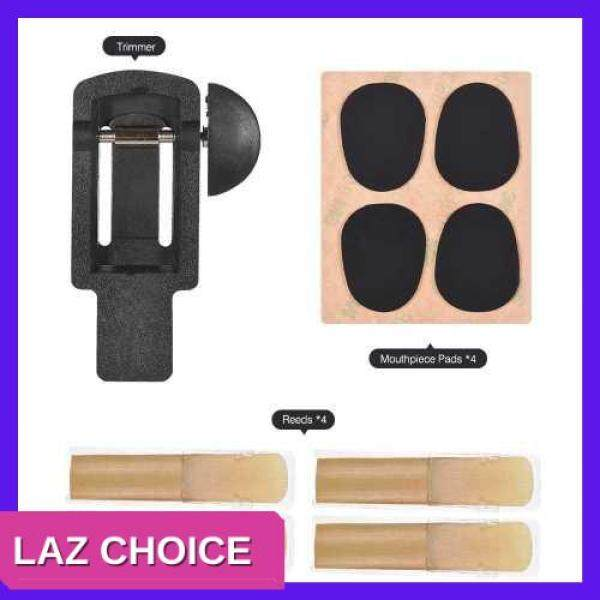 LAZ CHOICE Saxophone Reeds Trimmer Set with Reeds 2.5 Strength and Mouthpiece Cushion Pads Musical Woodwind Instrument Accessories Repair Tool for Clarinet Saxophone (Black) Malaysia