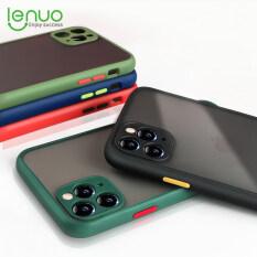 Ốp Lưng Cứng Lenuo Cho iPhone SE 2020, Ốp Bảo Vệ Ống Kính Máy Ảnh Chống Sốc Màu Sắc Hỗn Hợp, Chống Sốc Cho iPhone SE 11 Pro Max X Xr Xs Max 8 7 6S Plus