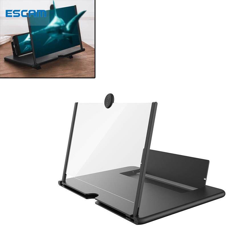 Thiết Bị Khuếch Đại Màn Hình Điện Thoại Di Động ESCAM 12 Inch, Có Thể Gập Lại, Màn Hình 3D...