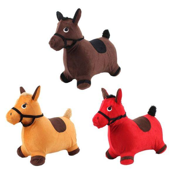 Bouncy Horse Hopper Outdoors Ride on Inflatable Animal Play Toys Gifts for Kids 72XC Singapore