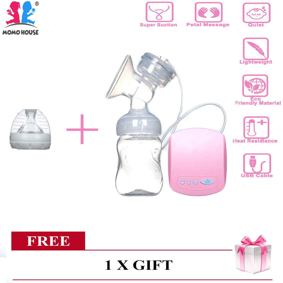 Momo House Single Electric Breast Pump With Puting Breastpump Pump Susu Pam Susu [deliver In 2-3 Working Day] - Sale By Momo House.