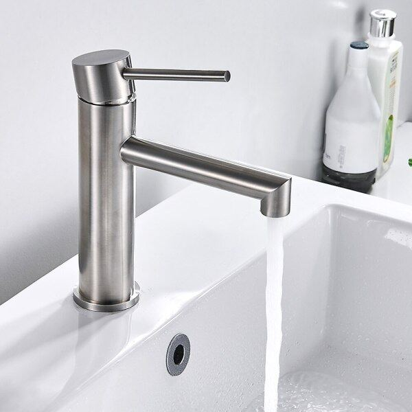 Bathroom Mixer Faucet Stainless Steel Sink Tap Single Handle Hole Hot And Cold Water Home Kitchen Hotel Faucet Bathroom Tap