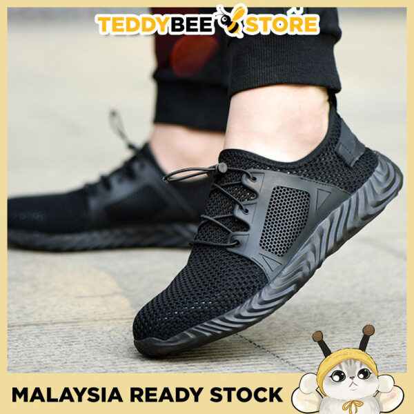 Breathable Steel Toe Military Safety Work Shoes Indestructible Construction Boots Sneakers Kasut keselamatan
