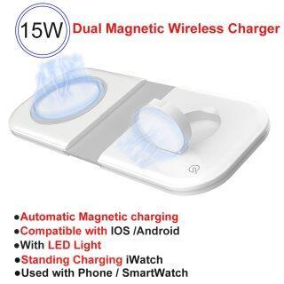 HOCE Đế Sạc Magsafe Duo 15W Có Đèn Led Cho iPhone 12 13 Pro Max 12 Đế Sạc Không Dây Qi Gấp Đôi Nam Châm Mini Cho IWatch Airpods thumbnail
