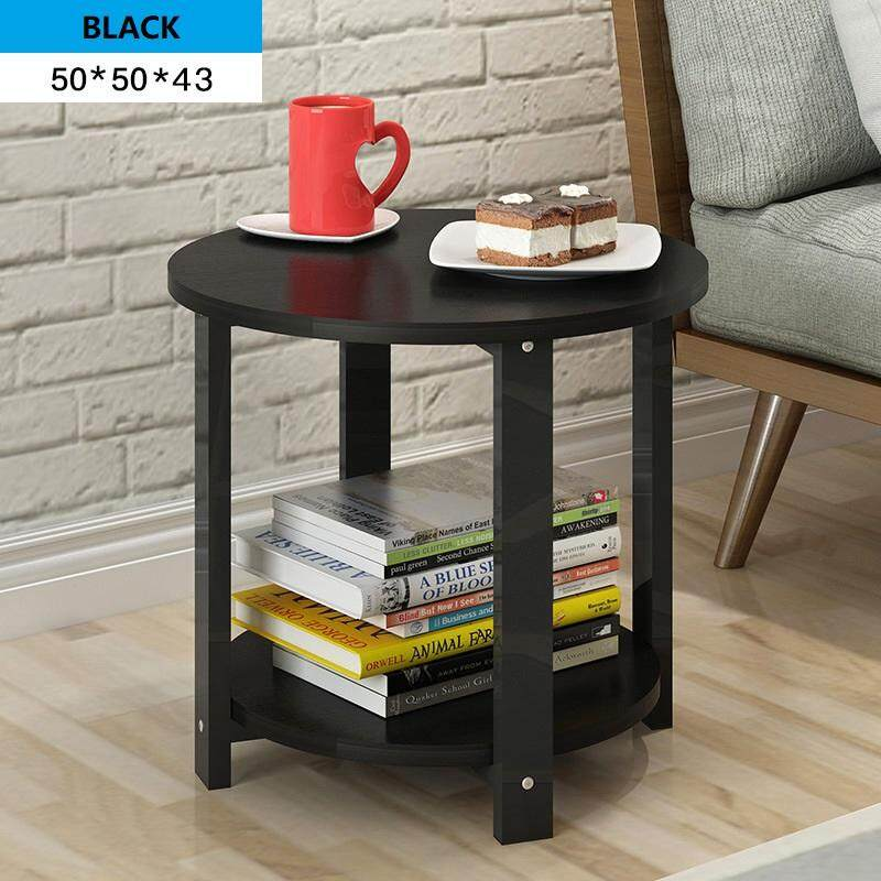 2 Tiers Round Shape Side Table Coffee Table By Jumping Rabbit.