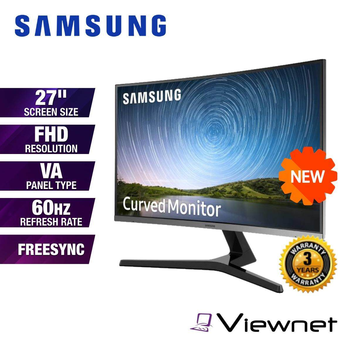 Samsung C27R500FHE 27 Full HD VA 60Hz 4ms FreeSync Curved LED Monitor (LC27R500FHEXXM) VGA, HDMI 1.4, Headphone Jack, VESA Compatible, Eye Saver Mode, Flicker Free Malaysia