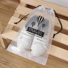 SHOOTHE 5 Cái Không Thấm Nước Du Lịch Hành Lý Túi Trong Suốt Giày Organizer Mỹ Phẩm Pocket Rửa Pouch Dây Rút Túi PVC