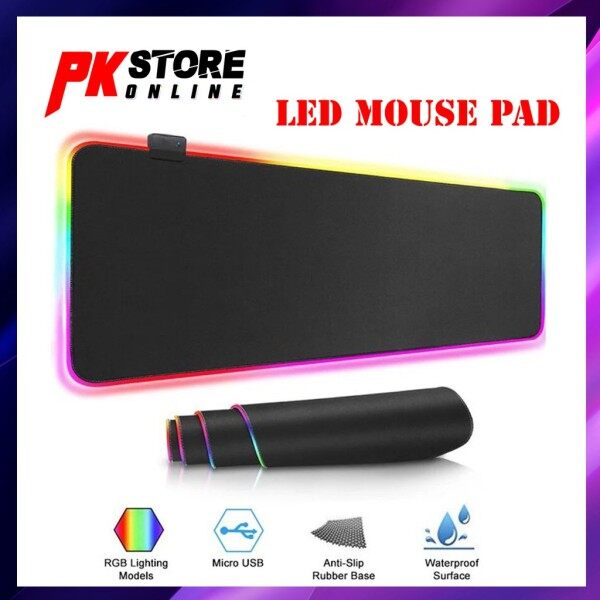 RGB Soft Gaming Mouse Pad Large Oversized Led Extended Mousepad Non-Slip Rubber Malaysia