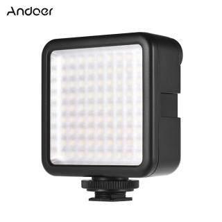 Andoer Camera Khóa Mini W81, Bảng Đèn LED Máy Quay 6.5 K Có Thể Điều Chỉnh Độ Sáng 6000 W Đèn Video Với Bộ Chuyển Đổi Gắn Giày Gimbal Ổn Định Cho DJI Ronin-s OSMO Mobile 2 Zhiyun Smooth 4 Dành Cho Máy Ảnh DSLR Canon Nikon Sony thumbnail