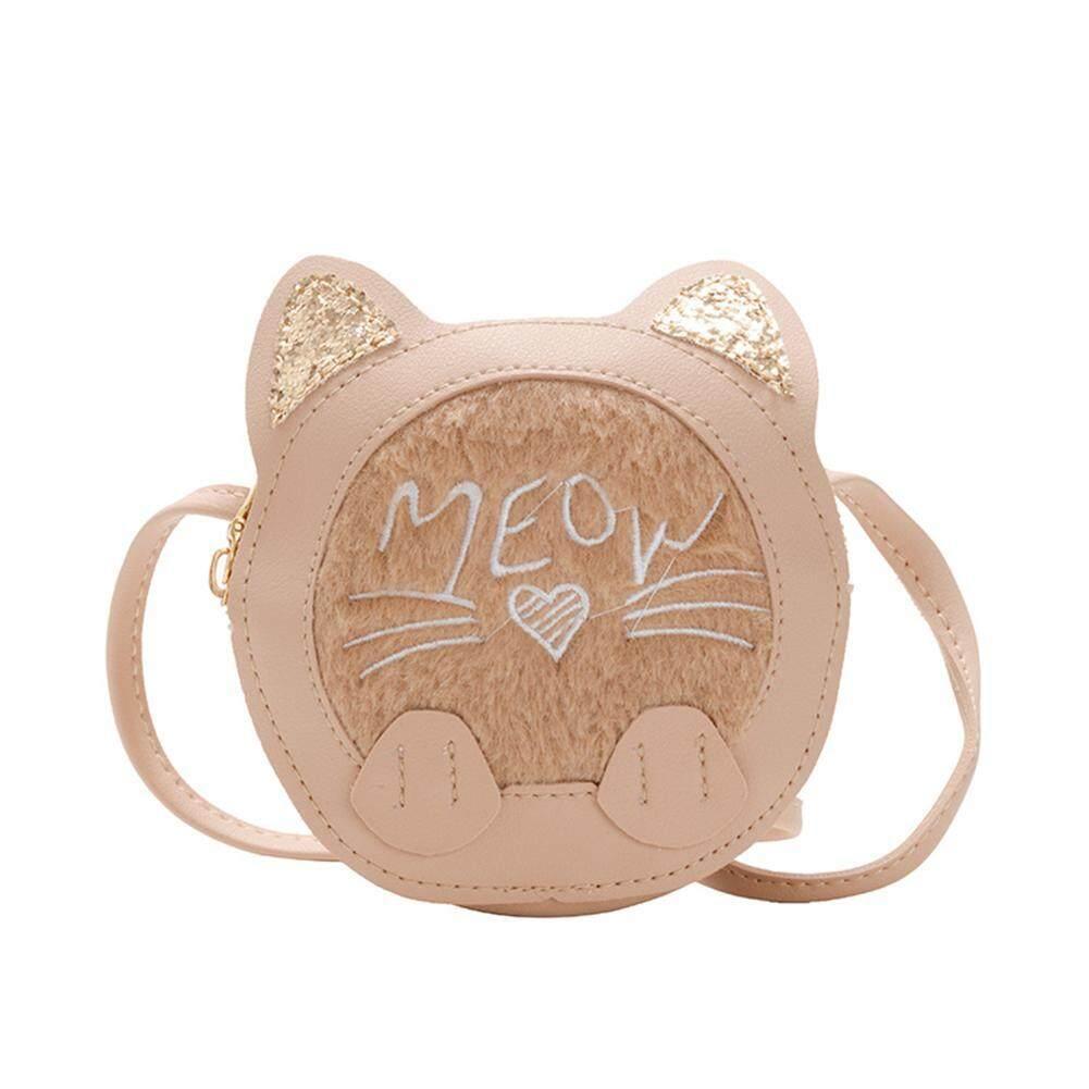 Kid Girl Handbag Cute Cat Shoulder Bag Wallet PU Leather Messenger Crossbody Bag
