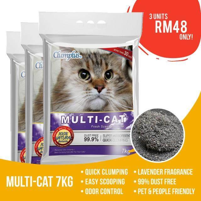 Multi Cat Litter 7kgs X 3 Beg By Pets Store.