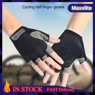 Maxxlite Ready Stock Găng Tay Nửa Ngón Đạp Xe, Găng Tay Thể Thao Chống Sốc Thoáng Khí Chống Mồ Hôi Chống Trượt, Xe Đạp Ngoài Trời Nam Nữ thumbnail