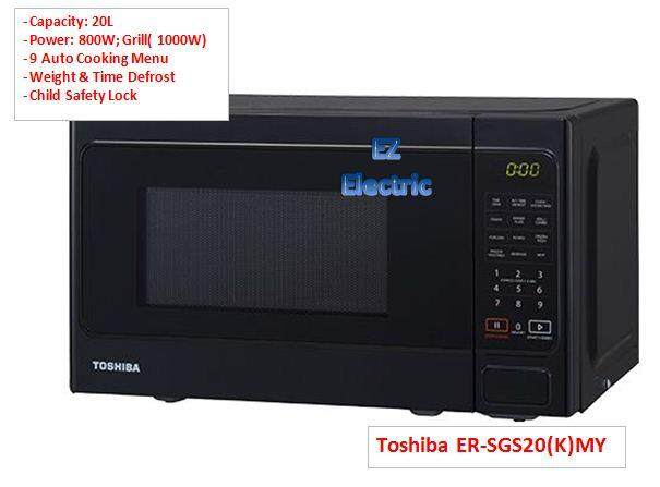 Toshiba ER-SGS20(K)MY Microwave Oven with Grill 20L (Touch Control) 800W