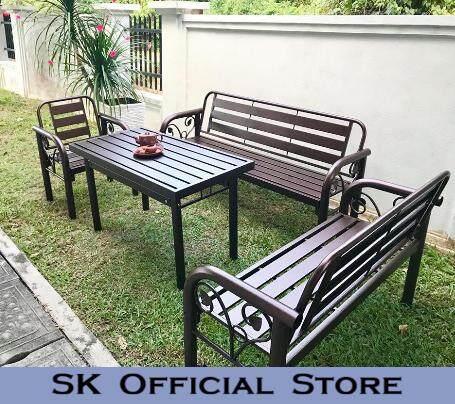 Outdoor Furniture Bench Chair Set /garden Set/metal Chair Set/table Set/garden Furniture/garden Seating Table Chair/long Bench/metal Long Bench Chair/garden Chair By Sk_furniturestore.