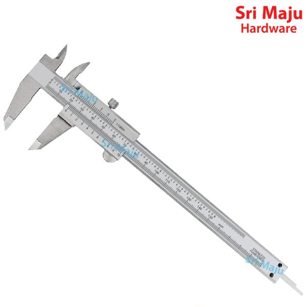MAJU VC-150 150mm Vernier Caliper Hardened Steel Gauge Measuring Tape Ruler Range Resolution 0.02mm Pembaris