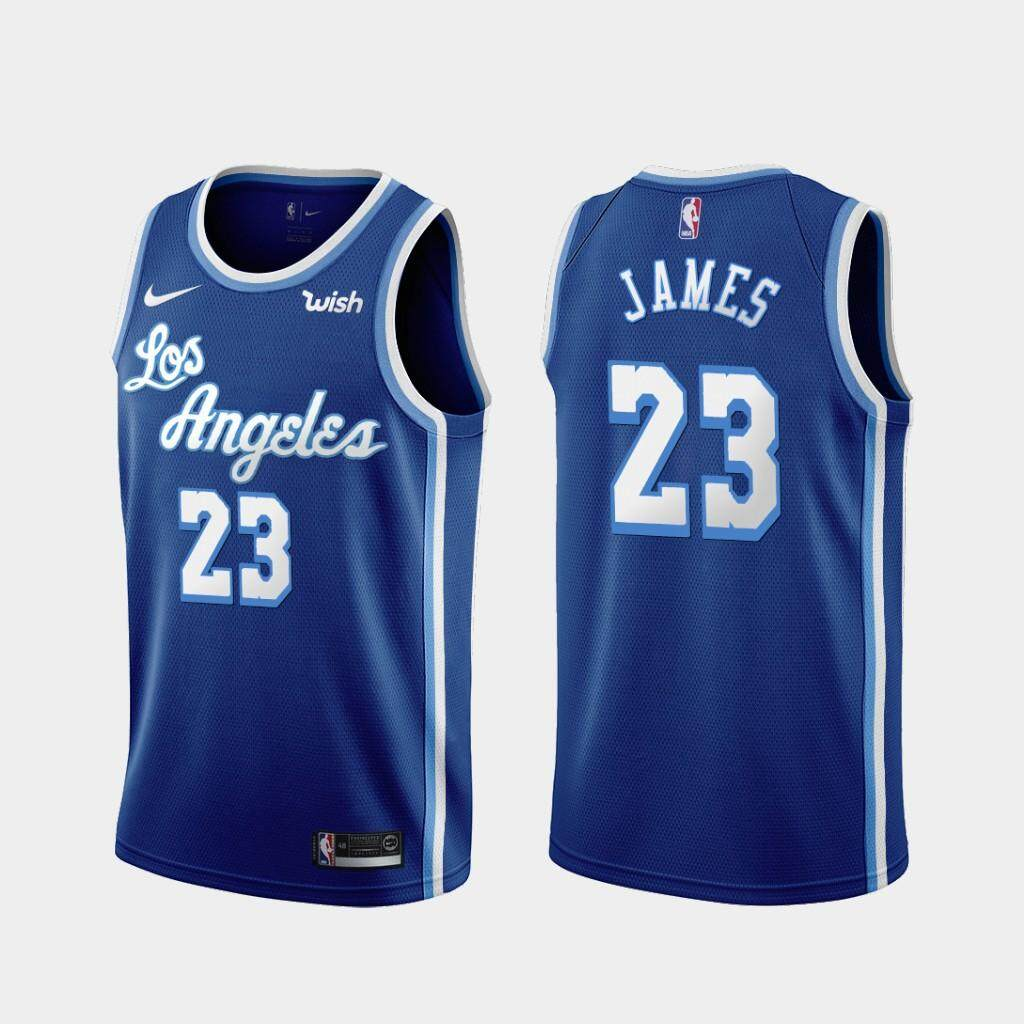 pretty nice d9906 5029e LeBron_James Los Angeles Lakers_Nike 2019/20 Swingman Embroidery Jersey -  White & Blue